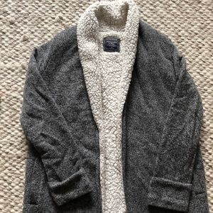 Abercrombie & Fitch Sherpa lined cardigan.